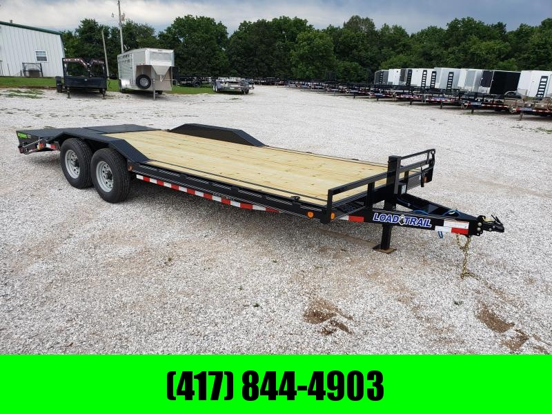 2019 LOAD TRAIL 102X22(19+3) TANDEM 14K EQUIPMENT TRAILER W/ MINI MAX RAMPS