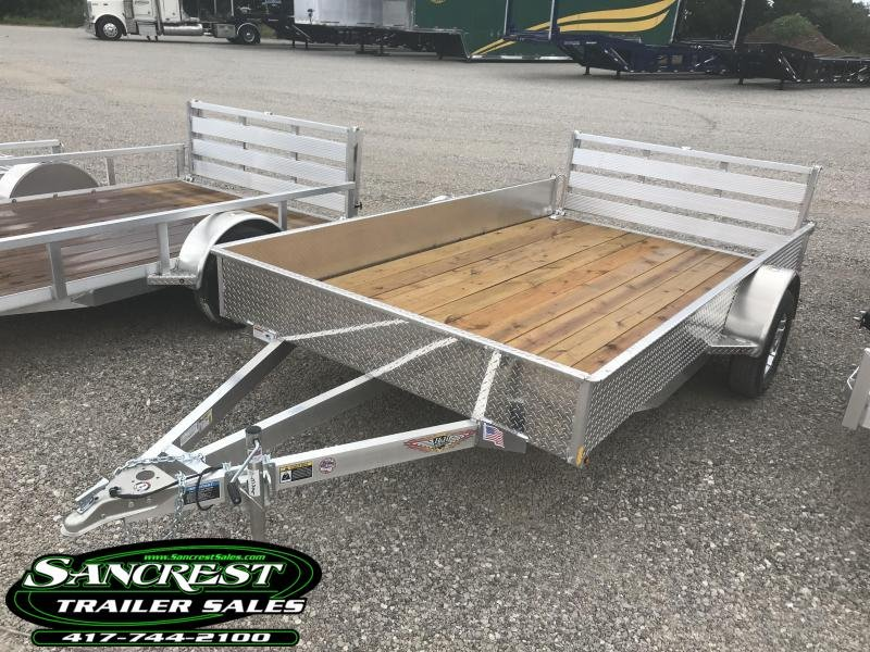 2019 H and H Trailer 82X12  Utility Trailer W/BI-FOLD GATE AND SOLID SIDES