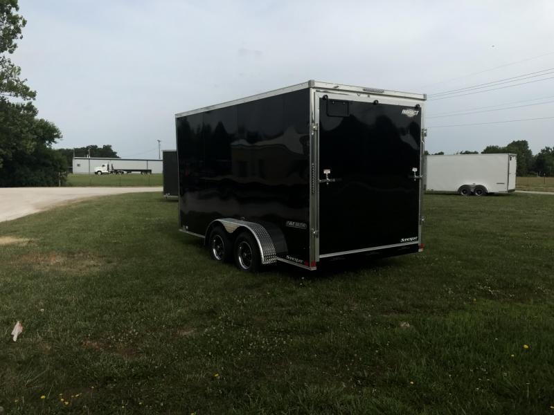 2019 Impact Trailers 7X14 W/7' HEIGHT BLACK Enclosed Cargo Trailer