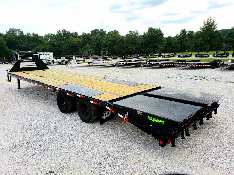 2019 Load Trail 102X32 TANDEM LO-PRO GOOSENECK W/10K AXLES MAX RAMPS TORQUE TUBE & UNDER BRIDGING