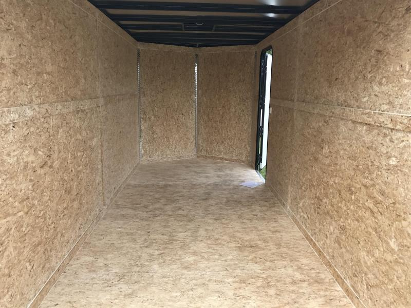 2019 Impact Trailers 7X16 W/7' HEIGHT CHARCOAL Enclosed Cargo Trailer