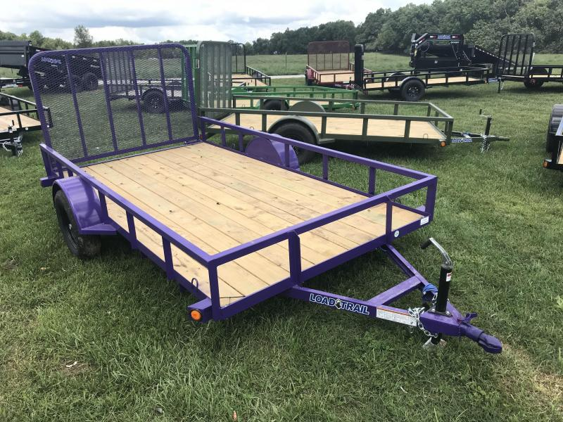 2019 Load Trail 77x12 Utility Trailer W/4' GATE AND SPRING LATCHES(PURPLE)