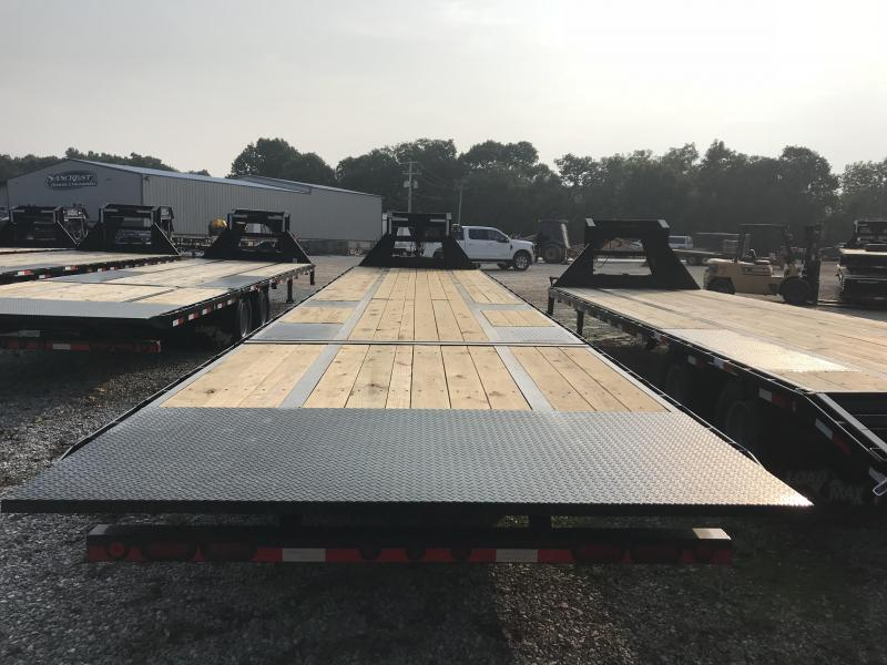 "2019 Load Trail 102x40 LOW-PRO GOOSENECK HYDROTAILW/12K AXLES/72"" SPREAD/10 FT HYDRO TAIL/HYDRO JACKS/RH TOOLBOX (48"")"