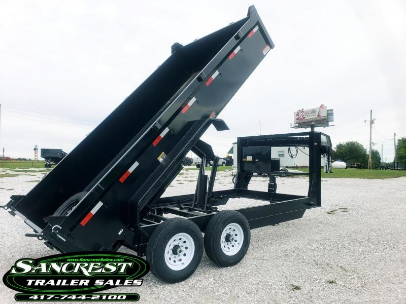 2019 H and H Trailer 83X14 LOW-PRO GOOSENECK Dump Trailer