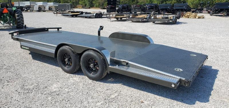 2020 MAXXD 83X20 TANDEM 10K GRAY METALLIC N5X CAR HAULER W/ DNL STYLE TONGUE  TOOLBOX