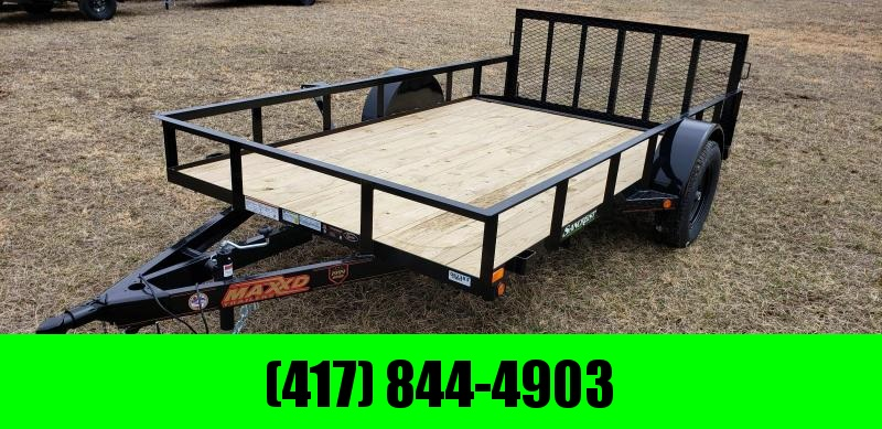 "2019 MAXXD 77 X 12 SINGLE AXLE UTILITY WITH 2' STEEL DOVETAIL AND 30"" SPRING GATE"