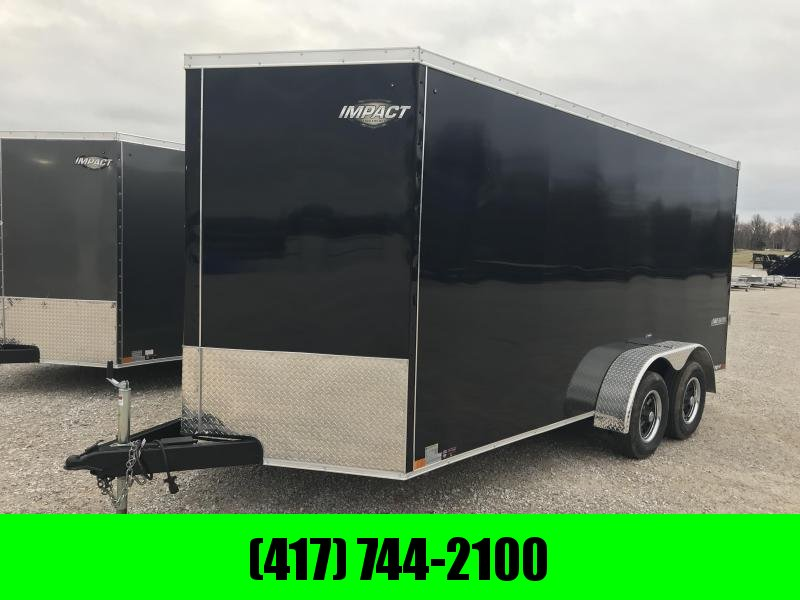 "2019 Impact Trailers 7X16 TANDEM Enclosed Cargo Trailer /6'6"" HEIGHT"