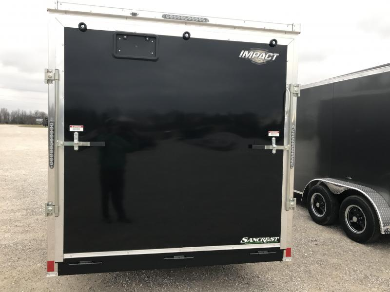 """2019 Impact Trailers 7X16 TANDEM Enclosed Cargo Trailer /6'6"""" HEIGHT"""