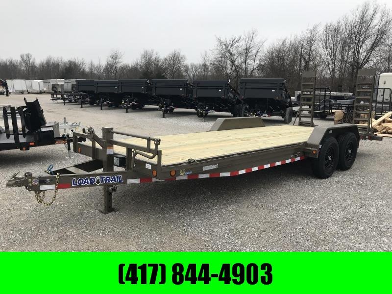 2019 Load Trail 83x22 WESTERN METALLIC Equipment Trailer w/7k axles and flip ramps in Norfork, AR