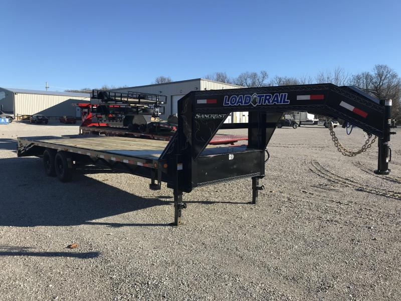 2019 Load Trail 102X25 Gooseneck Flatbed Trailer W/7K AXLES AND MAX RAMPS