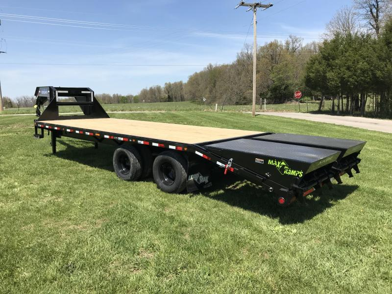 2018 Load Trail 102X25 GOOSENECK  Trailer w/MAX RAMPS