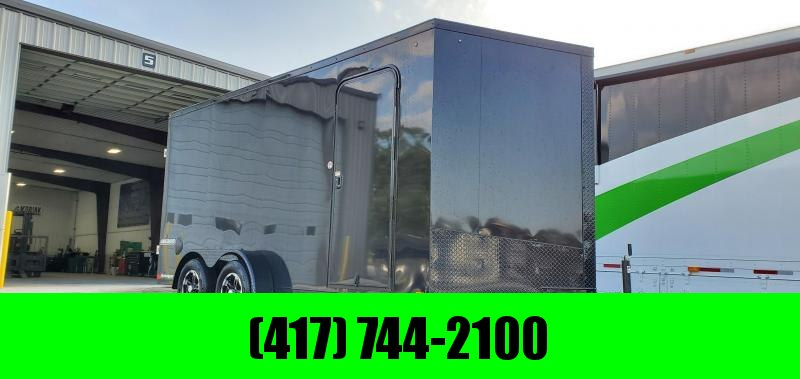 2020 Impact 7X16 TANDEM 7K BLACK OUT CARGO W/7' HEIGHT & ALUMINUM WHEELS