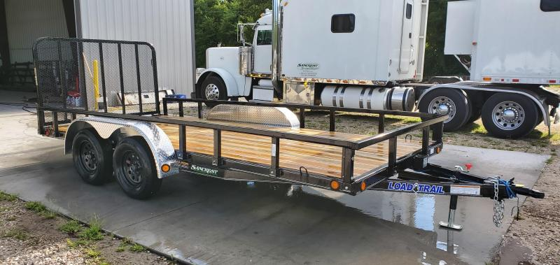 2019 LOAD TRAIL 83X16 TANDEM 7K UTILITY W/REMOVABLE TUBE TOP RAILING & 4' GATE