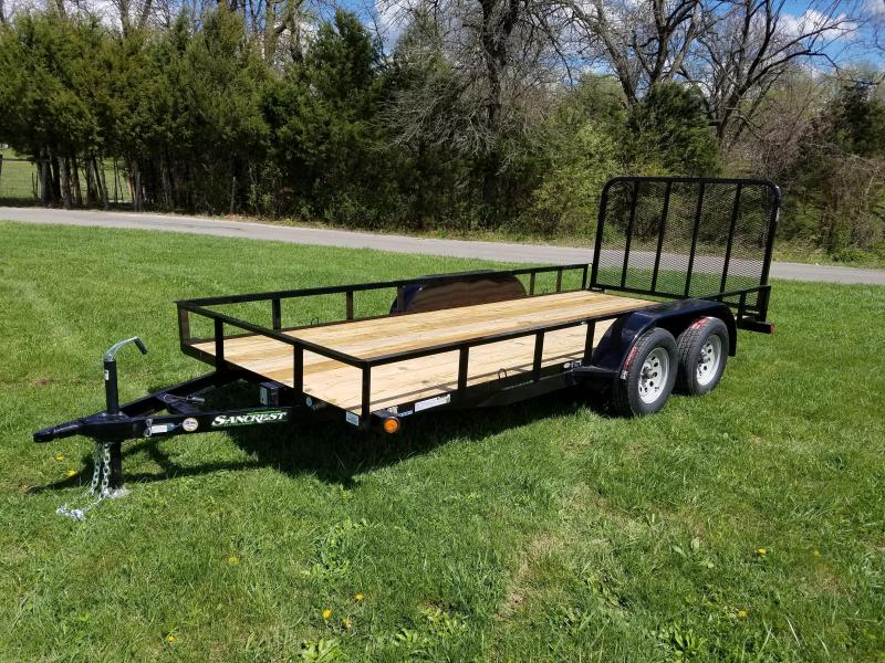 2017 Load Trail 16' tandem with 4' fold gate utility flat bed