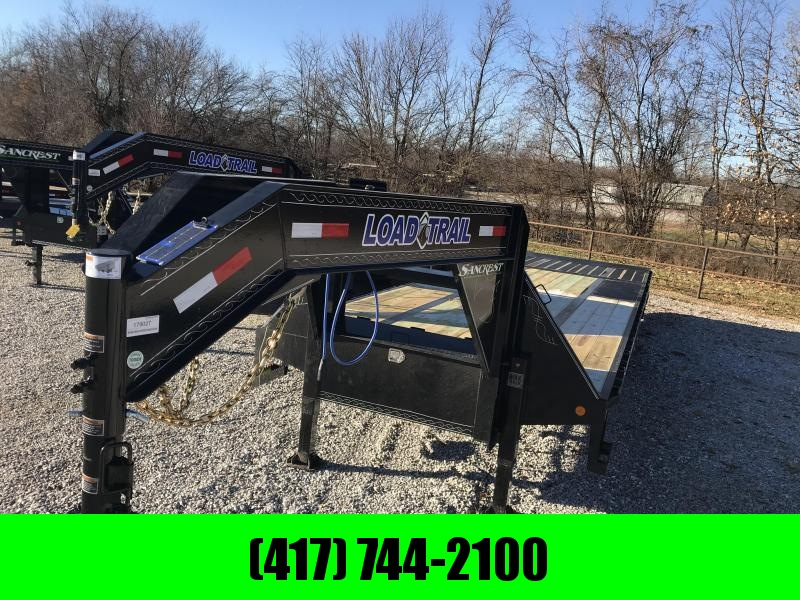 2019 Load Trail 102X32 LO-PRO GOOSENECK Flatbed Trailer W/HYD. JACKS/HYD. 10' TAIL(BLACKWOOD) 10K AXLES TORQUE TUBE  in Ashburn, VA
