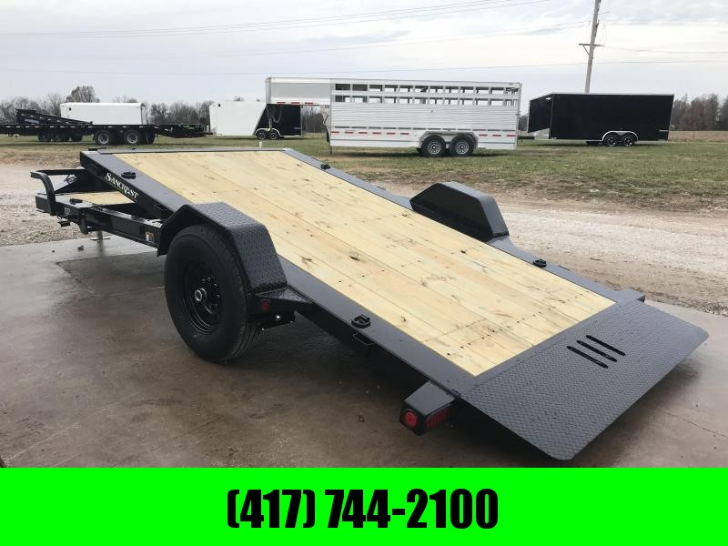 2019 Load Trail 83X15 SINGLE 7K AXLE TILT-N-GO Equipment Trailer W/I-BEAM FRAME & TOOLBOX in Lowell, AR