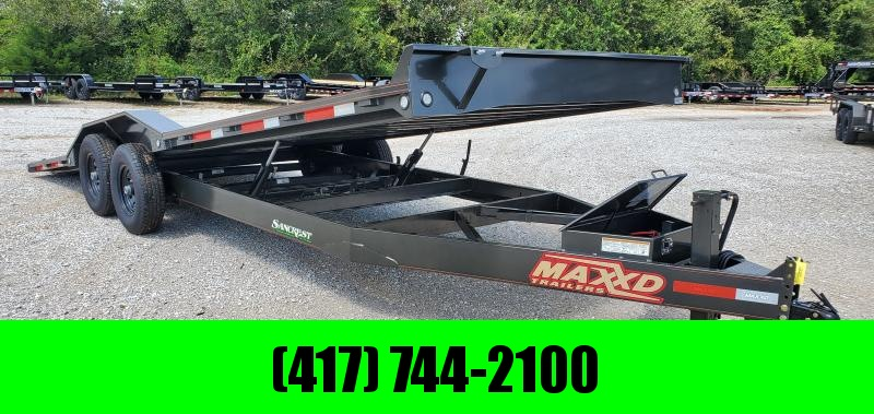"2019 MAXXD 102X24 TANDEM 14K POWER TILT EQUIPMENT HAULER W/8"" FRAME"