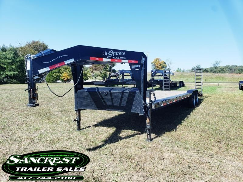 2017 STARLITE TRAILER 102 X 28 GOOSENECK EQUIPMENT TRAILER
