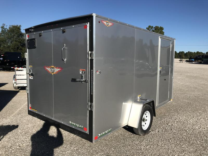 2019 H and H Trailer 7x12 SILVER MIST METALLIC  Enclosed Cargo Trailer