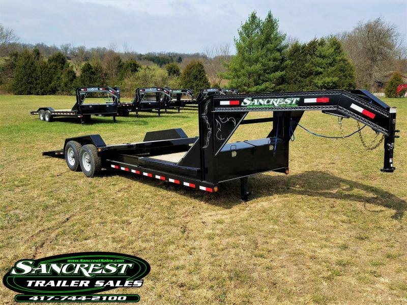 2018 Load Trail Gooseneck TILT-N-GO Equipment Trailer 83 x  22