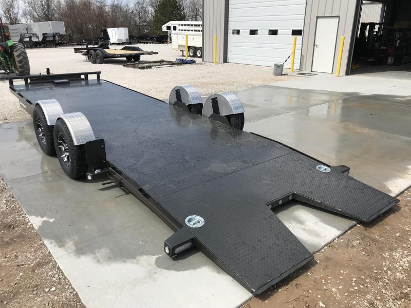 2019 MAXXD 80X24 DROP-N-LOAD TANDEM CAR HAULER W/AIR RIDE SUSPENSION AND 5200 AXLES