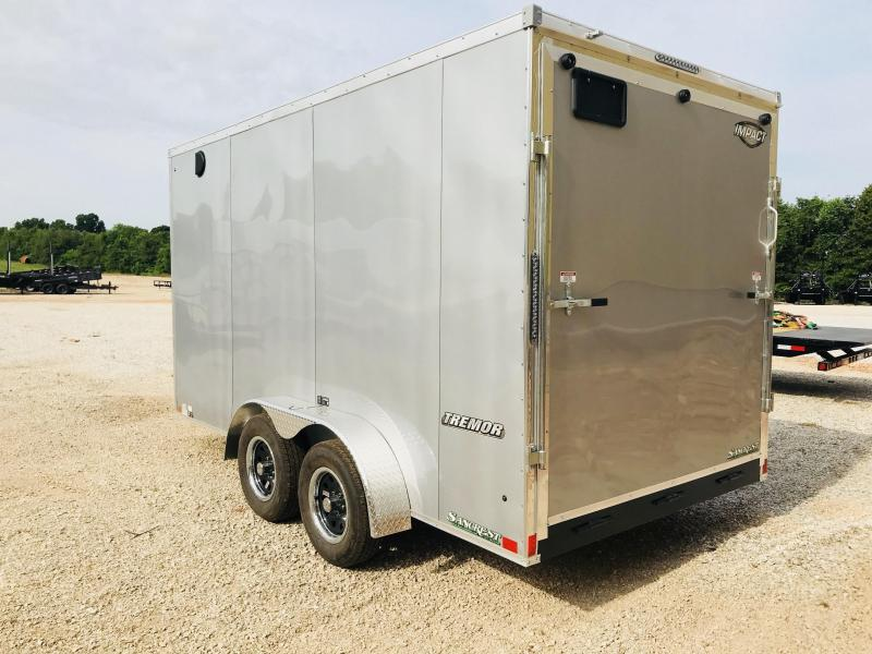 2019 Impact Trailers 7X14 W/7' HEIGHT SILVER Enclosed Cargo Trailer
