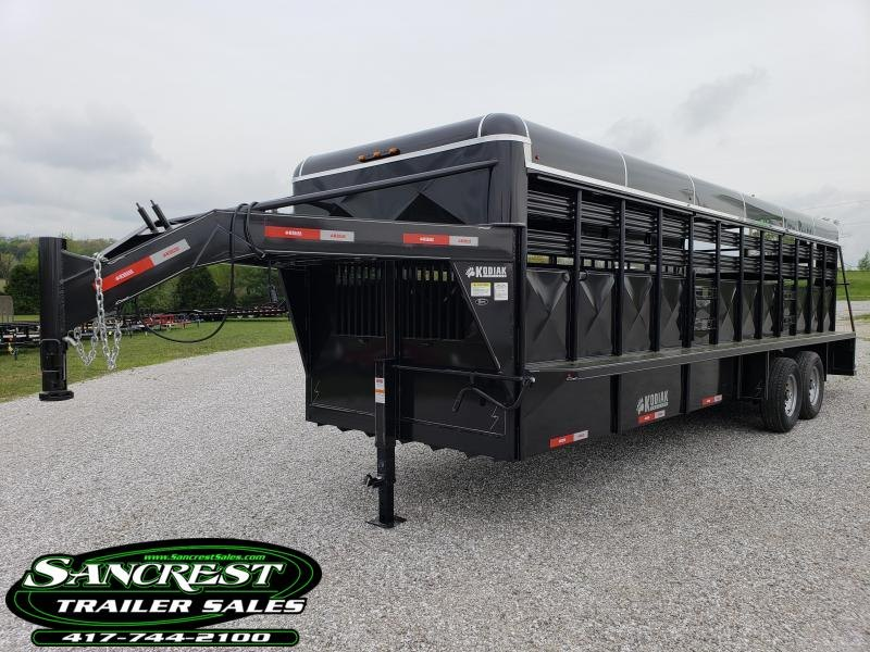 2018 Kodiak LIVESTOCK  Trailer 24 x 6'8  Metallic Black