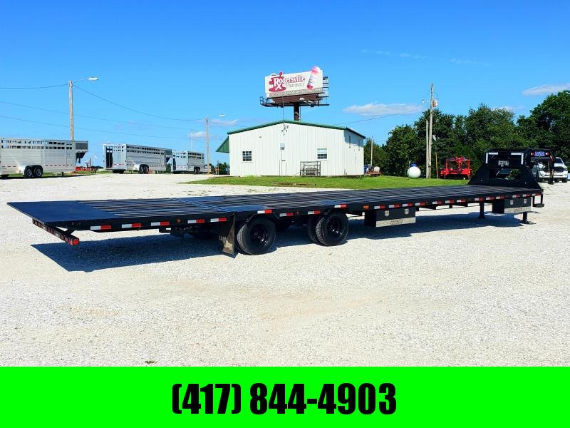 2019 LOAD TRAIL 102X42 TANDEM LO-PRO GOOSENECK W/HY. DOVETAIL & JACKS COOMPLETE BLACKWOOD FLOOR 12KS