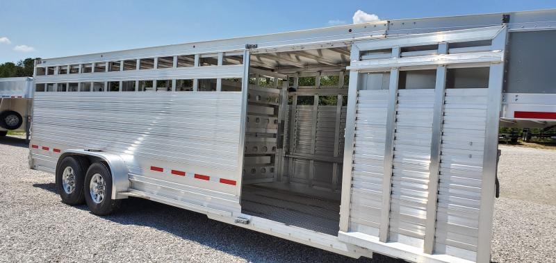"2019 EBY 24'X6'11""X6'6"" MAVERICK (DAKOTA EDITION) TANDEM GOOSENECK STOCK TRAILER W/7200 TORSION AXLES"