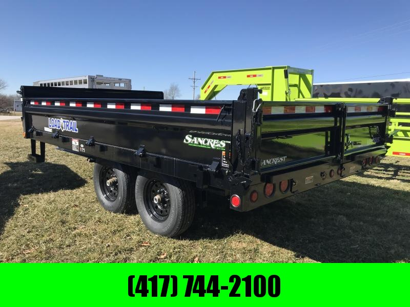 2019 LOAD TRAIL 96X14 DECKOVER DUMP W/7K AXLES AND FLIP DOWN SIDES