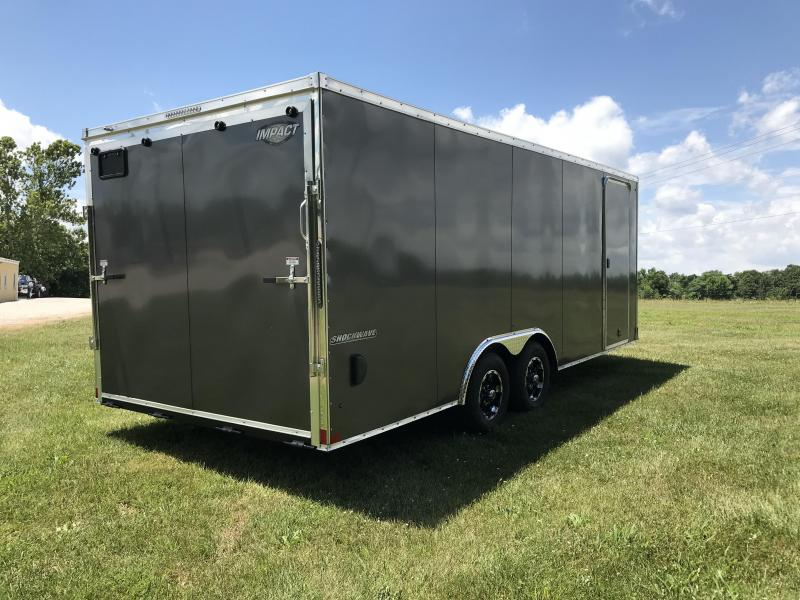 2019 Impact Trailers 8.5X20 Enclosed Cargo Trailer W/SLANT NOSE AND TALL ROCK GAURD