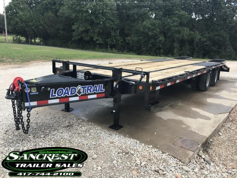 2019 Load Trail 102X26 TANDEM LOW-PRO PINTLE HOOK W/ROUGH OAK FLOOR/12K AXLES AND FLIP OVER RAMPS