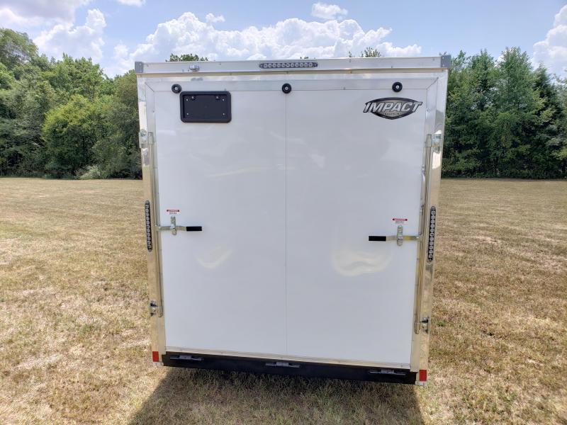 2019 Impact Cargo Trailer 7 X16  WHITE