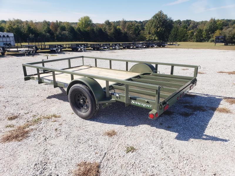 "2019 Load Trail ARMY GREEN 77"" x 12' Single Axle"