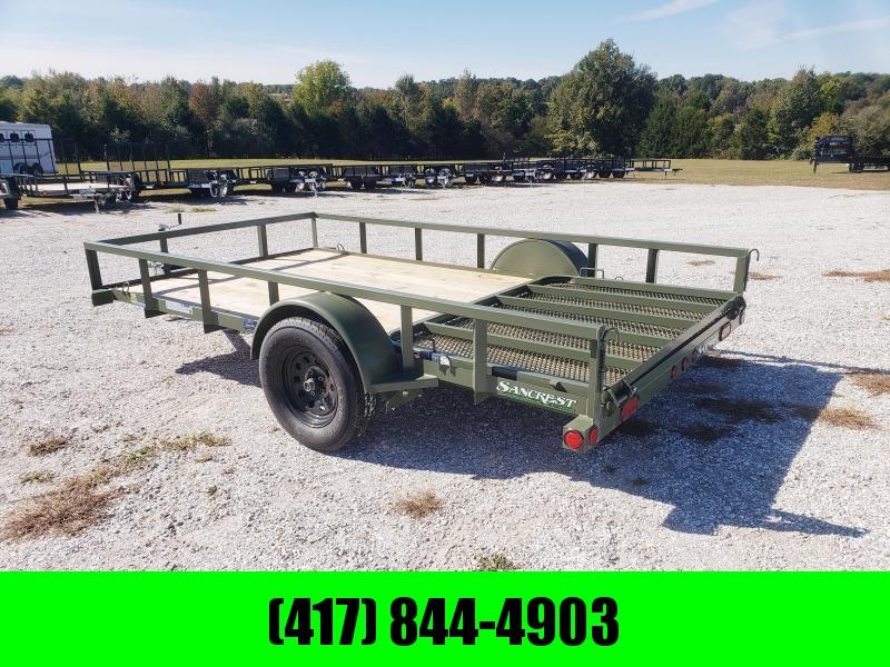 """2019 Load Trail ARMY GREEN 77"""" x 12' Single Axle in Ashburn, VA"""