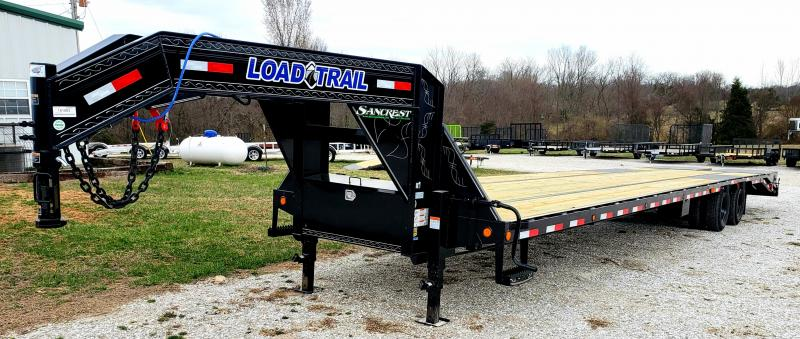 2019 Load Trail 102x40 LO-PRO Gooseneck Flatbed Trailer W/12K AXLES ADJ. RAT. RAIL MAX RAMPS DISC BRAKES