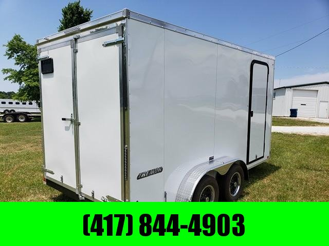 2019 Impact Trailers Cargo Trailer WHITE 7 X 14 W/ BARN DOORS in Ashburn, VA