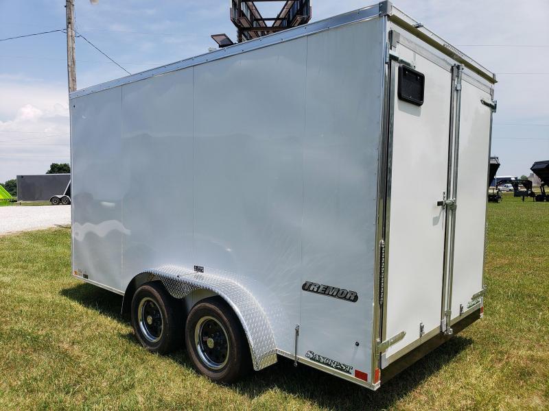 2019 Impact Trailers Cargo Trailer WHITE 7 X 14 W/ BARN DOORS