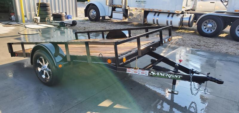 2018 Load Trail 77X10 3.5K TILT W/8PLY TIRES & ALUMINUM WHEELS