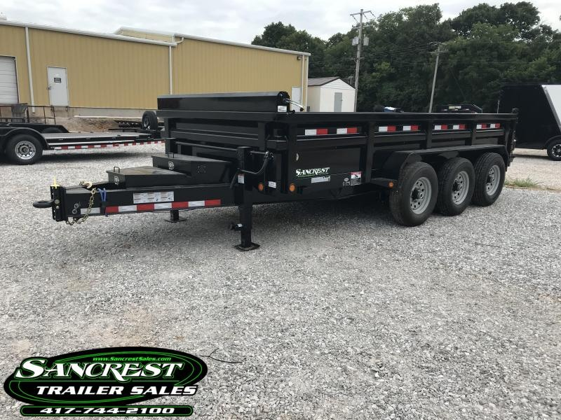 "2018 Load Trail 83x16 TRIPLE 8"" I-BEAM HD DUMP Trailer W/PINTLE in Cassville, MO"