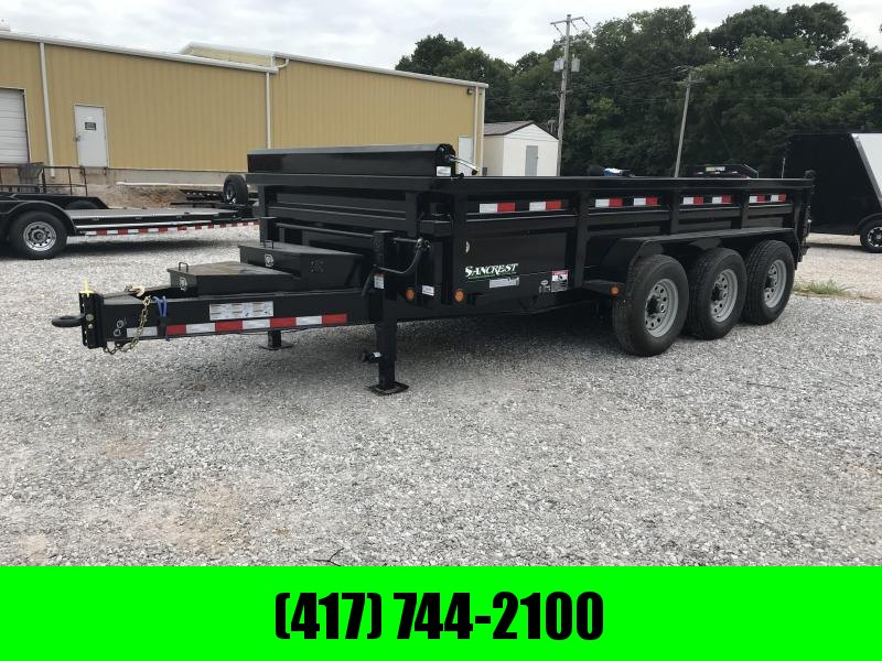 "2018 Load Trail 83x16 TRIPLE 8"" I-BEAM HD DUMP Trailer W/PINTLE"