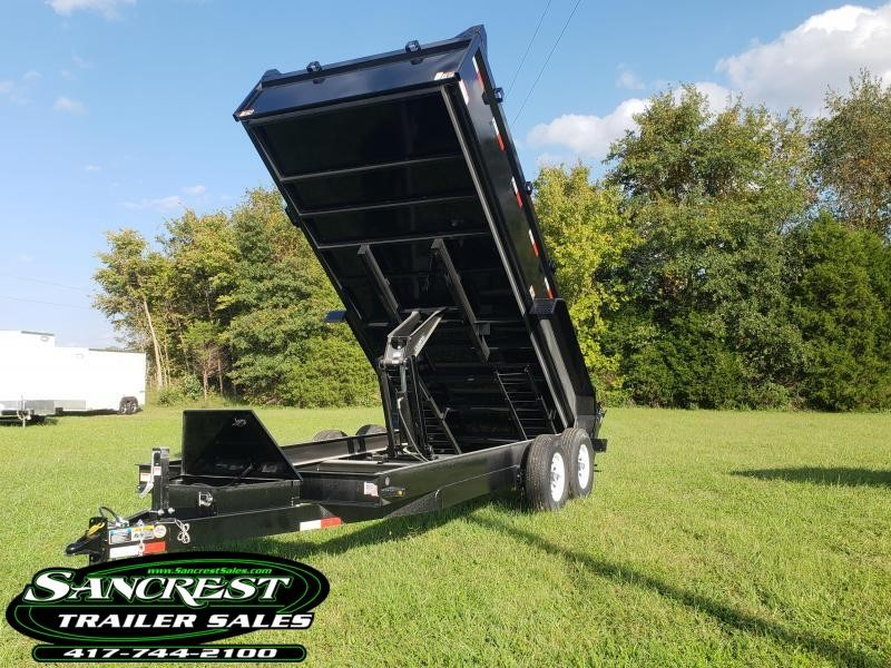 2019 H and H Trailer 83X16  Dump Trailer w/ 7K AXLES