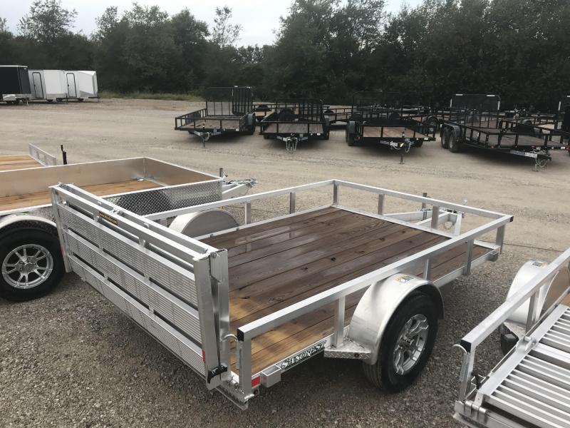 2018 H and H Trailer 82x10 Utility Trailer W/BI-FOLD GATE