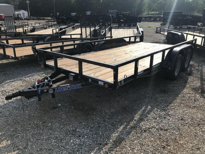 2018 Load Trail 83X16 TANDEM AXLE Utility Trailer w/REMOVABLE RAILING