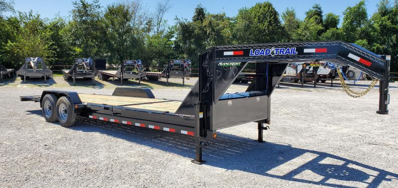 2020 Load Trail 83x24(16+8) TANDEM 14K GOSENECK GRAVITY TILT CAR/EQUIPMENT TRAILER W/WINCH PLATE AND CABLE ROLLER
