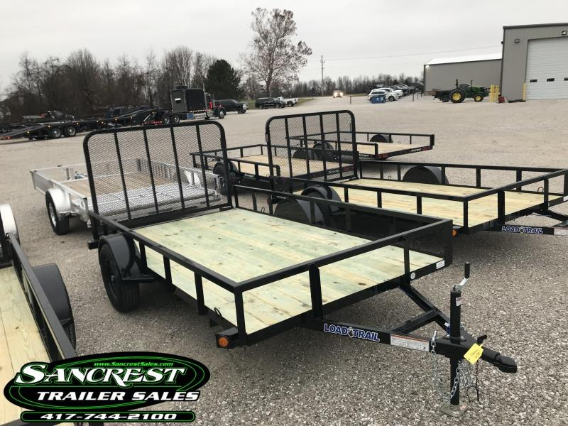 2019 Load Trail 77x12 Utility Trailer w/4' TUBE GATE AND SPRING LATCHES