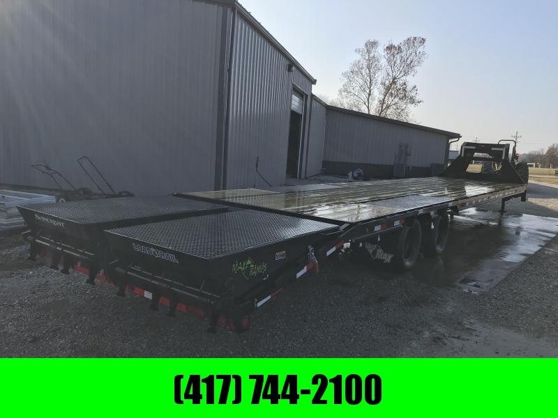 2019 Load Trail 102x40 LO-PRO GOOSENECK Flatbed Trailer W/DISC BRAKES 12K AXLES ADJUSTABLE RATCHET RAIL