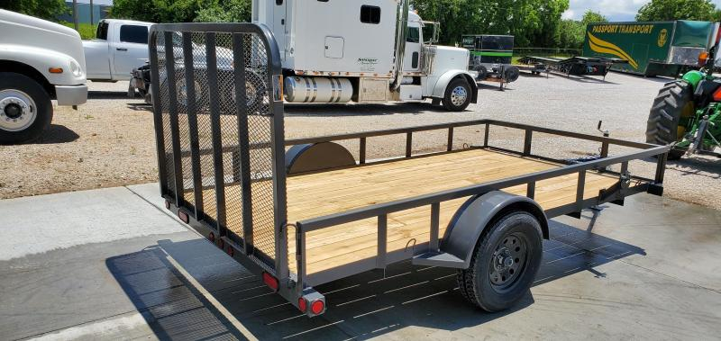 2019 Load Trail 77X12 GRAY TUBE TOP UTILITY W/4' GATE & SPARE MOUNT