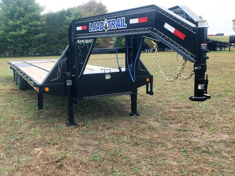 "2019 LOAD TRAIL 102"" x 40' Tandem Low-Pro Gooseneck w/Hyd. Dove Under Frame Bridge & Pipe Bridge ( 12Ks)"