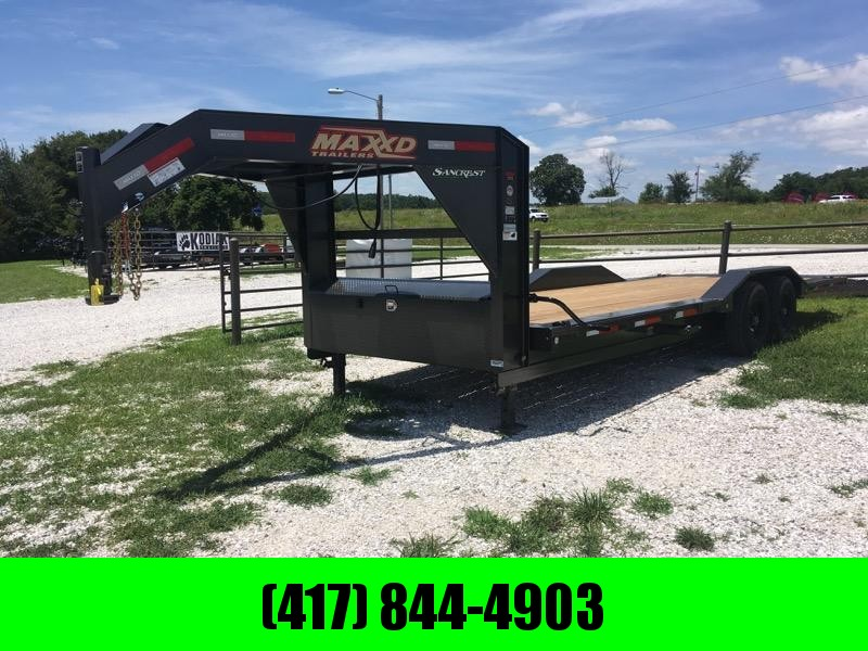 2019 MAXXD 102X24 TANDEM GOOSENECK 14K POWER TILT W/ DRIVE-OVER FENDERS in Omaha, AR